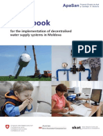 Guidebook  for the implementation of decentralised water supply systems in Moldova