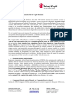 Programe Derulate de Organiza355ia Salva355i Copiii Romnia