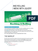 Rocking and Rolling Rounded Menu With Jquery