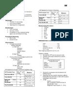 Manuf Notes- Prep 4, 5, 6