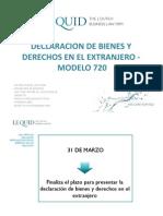 Declaración de Bienes y Derechos en el Extranjero - Presentación modelo 720