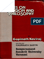 Notes on Religion and Philosophy - Gopinath Kaviraj_Part1