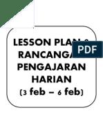 Lesson Plan & Rancangan Pengajaran Harian