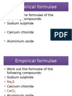 Empirical Formulae
