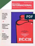 Revista Internacional-Nuestra Época Octubre de 1984 Edición Chilena