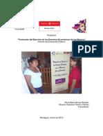 """INFORME DE EVALUACIÓN """"Promoción del Ejercicio de los Derechos Económicos de las Mujeres"""""""