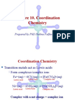 Lecture 10. Coordination Chemistry