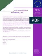 EEA 4 Permanent Residence 06-14