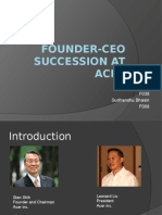 Founder-CEO Succession at Acer
