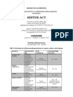 SISTER ACT - Bando Audizioni 13-14 Aprile 2015