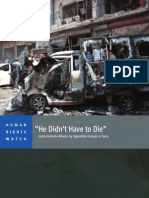 """""""He Didn't Have to Die:"""" Indiscriminate Attacks by Syrian Opposition Groups"""