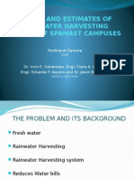 Design and Estimates of Rainwater Harvesting System Of