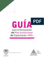 Guia Para La Formulacion Del Plan Institucional de Capacitacion - PIC