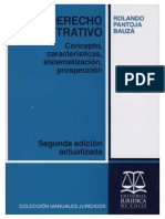 El Derecho Administrativo. Concepto, Características, Sistematización, Prospección