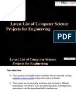 Latest List of Computer Science Projects for Engineering