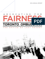City of Toronto Ombudsman 2014 report