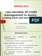 Two Decades of Credit Management in Banks