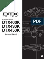 Yamaha DTX400/430 450 Manual