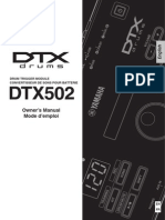 Yamaha DTX502 Owner's Manual