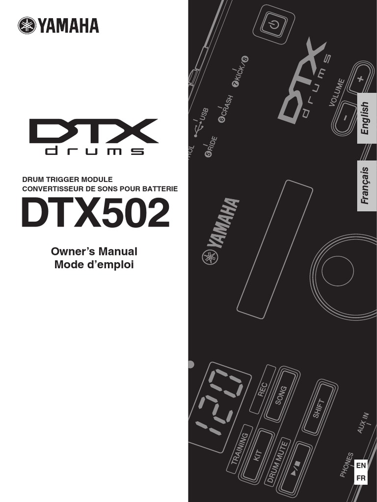 Yamaha DTX502 Owner's Manual | Drum Kit | Electrical Connector