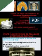 Curs 10+11 - etape clinico-tehnice proteze scheletate