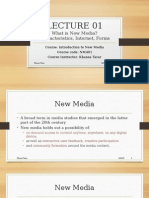 Lecture1-Intro to New Media