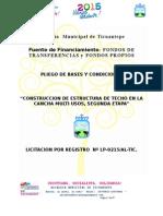 Ejemplo Pliego de Bases Estructura de Techo Cancha Multiusos II Etapaticuantepe.