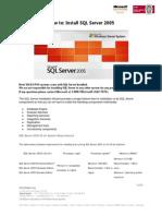 How to Install SQL Sever 2005 ICG Soft