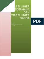 Mei Puspita Wati 1101125049 Math4b Regresi Linear Sederhana Dan Berganda