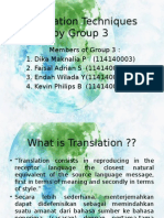 Translation Techniques Group 3