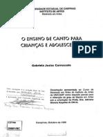 O Ensino de Canto Para Crianças e Adolescentes - Carnassale,GabrielaJosias