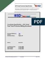 Sapscript Proforma Billing Document v1.0