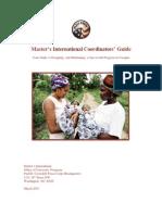 Master's International Coordinators' Guide -  March 2015