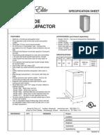 Broan Elite 15-Inch Trash Compactor - 15WH, 15BL, 15SS, 15WT, 15TT - Specification Sheet