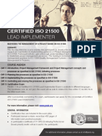 Iso 21500 Lead Implementer One Page Brochure