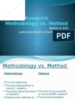 Research Methods vs Research Methodology Workshop