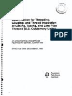 API 5B Threading, Gauging Line Pipe