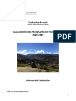 Bolivia Country Prog. Evaluation 2011 DOS Main Report