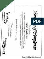 dnr wild certificate