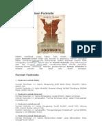 Format Penulisan Footnote