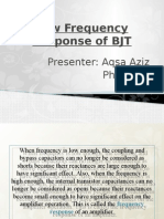 Low Frequency Response of BJT