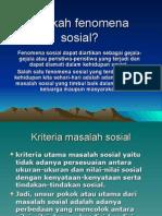 Fenomena Dan Penyimpangan Sosial