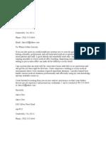 Roselyn Application Letter