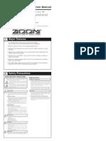 Zoom 506 User Manual