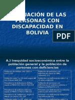 Situacion de Las Personas Con Discapacidad en Bolivia Javier Mendoza
