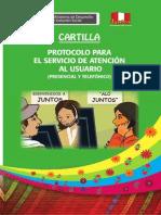 Cartilla Protocolo Para El Servicio de Atencion Al Usuario(1)