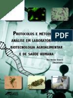 Protocolos e métodos de análise em laboratórios de biotecnologia agroalimentar e de saúde humana 1a Edição