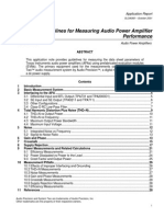 Guidelines for Measuring Audio Power Amplifier Performance (Texas Instruments)