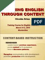 3. Módulo Teaching English Through Content -  2015