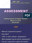 4. Modulo ASSESSMENT - 2015
